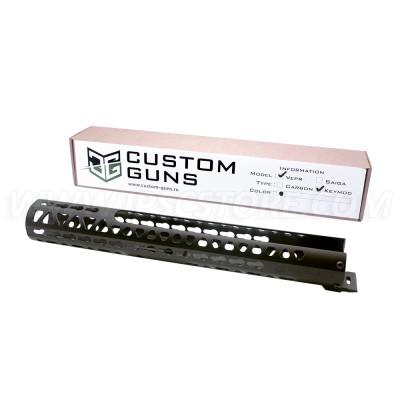 Custom Guns 00098 Aluminium Handguard for Molot Vepr VPO-205/206 Black