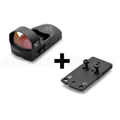 COMBO: Vortex VMD-3103 Venom Red Dot Sight 3 MOA + Red Dot Mount for Glock