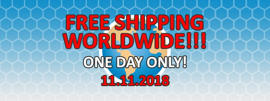 WORLD WIDE FREE SHIPPING DAY!