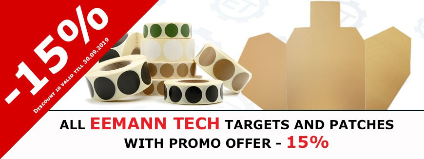 IPSCSTORE - EEMANN TECH targets and patches - 15%