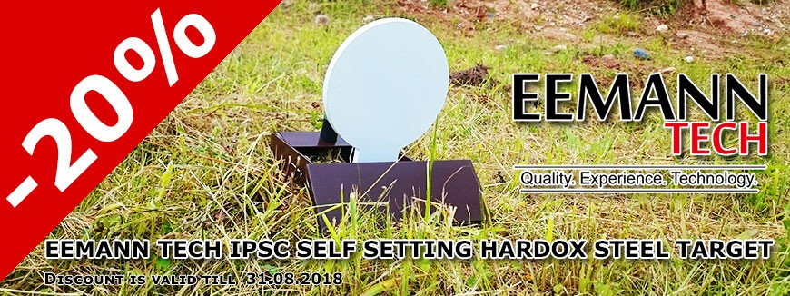 Eemann Tech IPSC Self Setting HARDOX Steel Target
