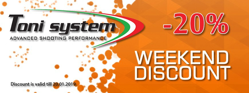 IPSCStore - TONI SYSTEM WEEKEND DISCOUNT -20%!